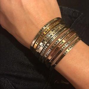 "Jewelry - 5 Left ""I am loved"" Momtra Cuff Bracelet"